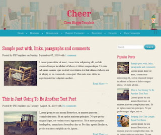 Cheer Responsive Blogger Template