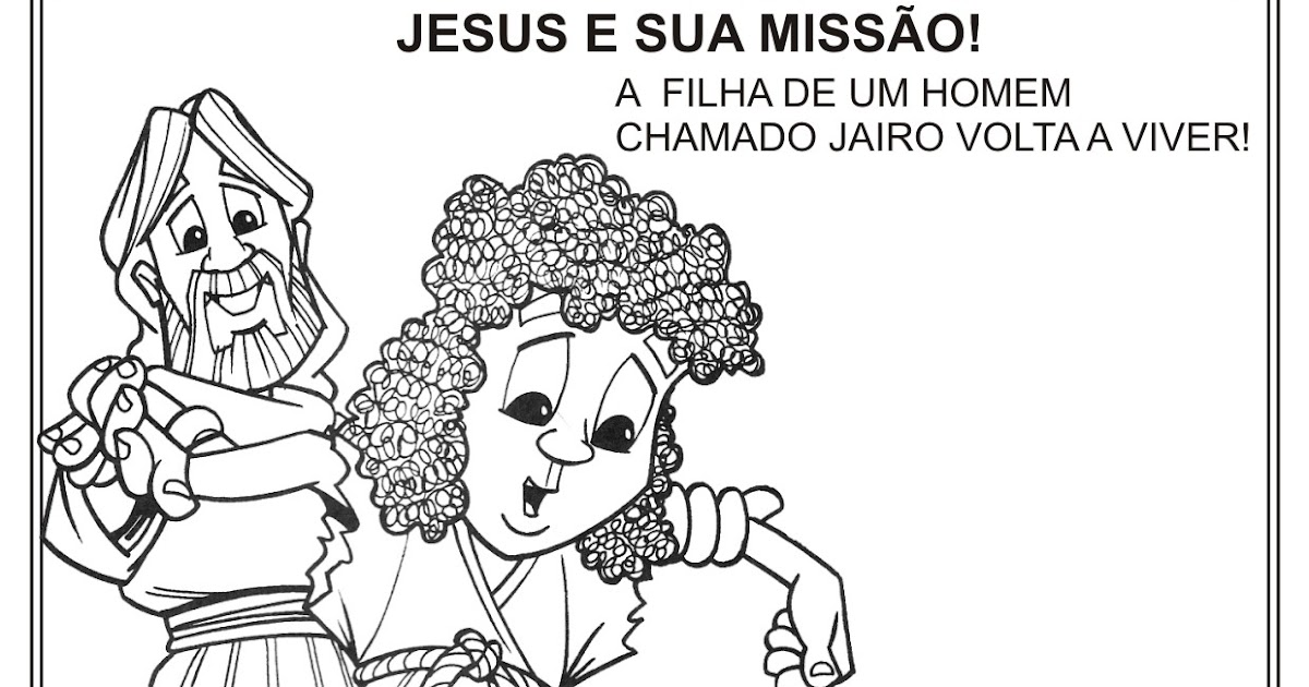 Atividade Natal Cristão/Jesus E A Filha De Jairo