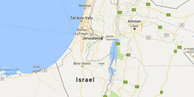 Google hapus Peta Palestina