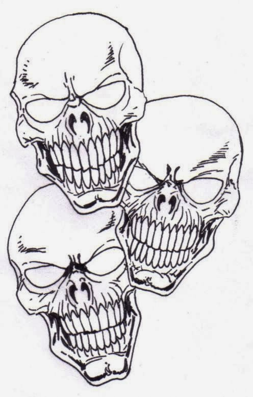 Free Printable Tattoo Stencils Skulls