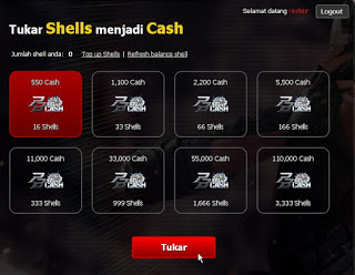 Cara Menukarkan Shell Garena ke bentuk Cash