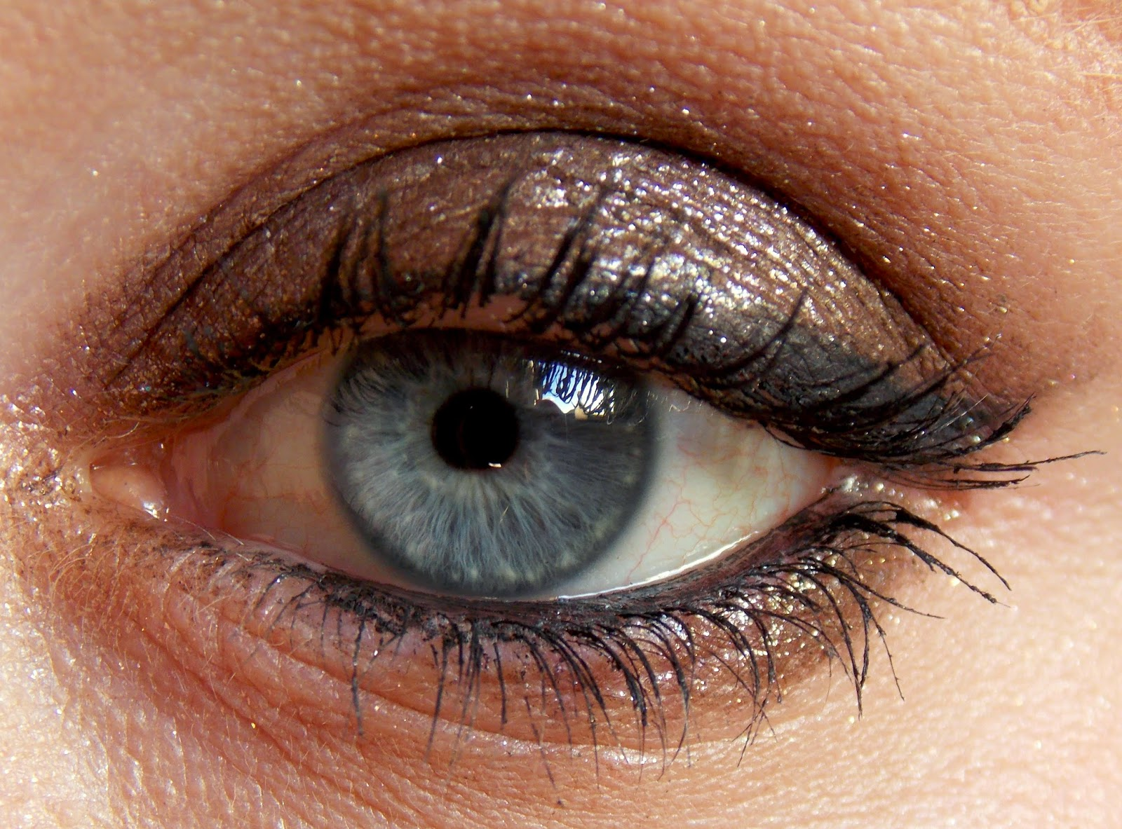 Urban Decay Moondust Eyeshadow in Diamond Dog Swatch Eye Look