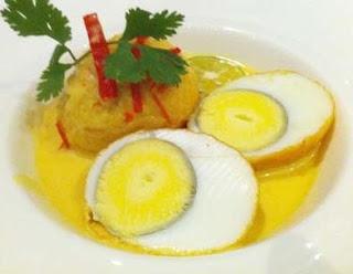 Resep Telur masak santan