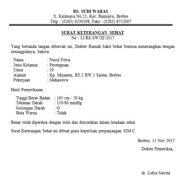 Contoh Surat Hasil Tes Keperawanan Dari Dokter Dapatkan Contoh