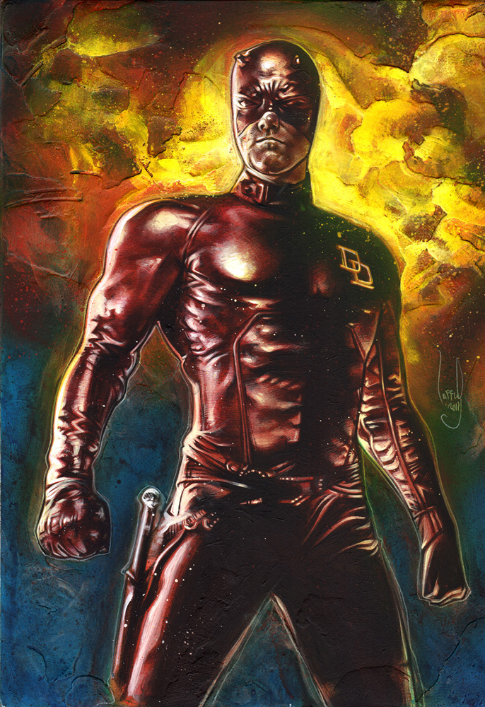 Daredevil, Original Artwork Copyright © 2015 Jeff Lafferty