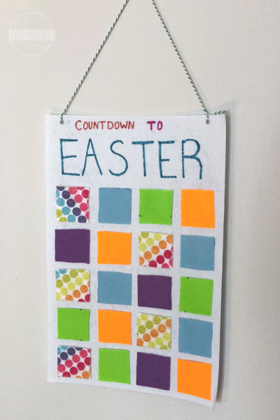 Countdown to Easter Felt Calendar