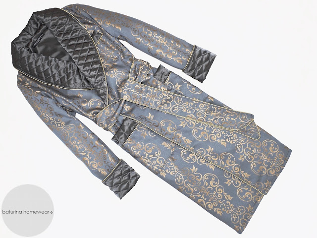 mens paisley dressing gown quilted silk robe long luxury gentleman vintage smoking jacket