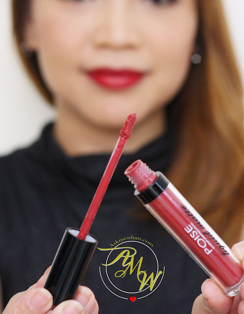 a photo of Poise Makeup Professional Liquid matte lipstick in notorious
