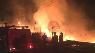 18 Bangunan Hangus Terbakar di Arul Kumer Aceh Tengah