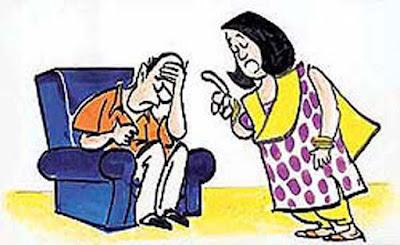 karı koca, çizim, aile, kavga, öğüt, nasihat