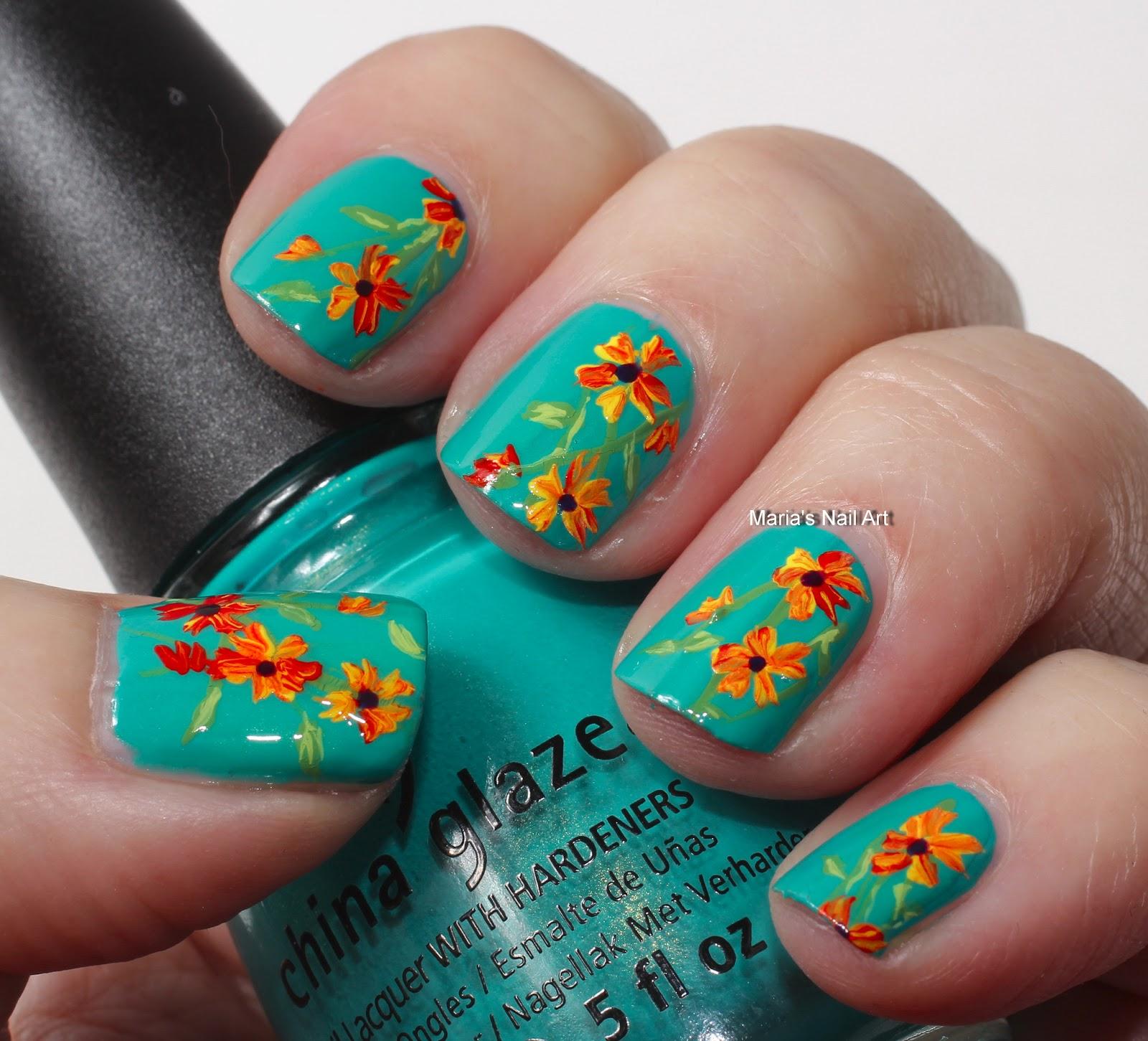 Marias Nail Art And Polish Blog: Flowers On Custom Kicks
