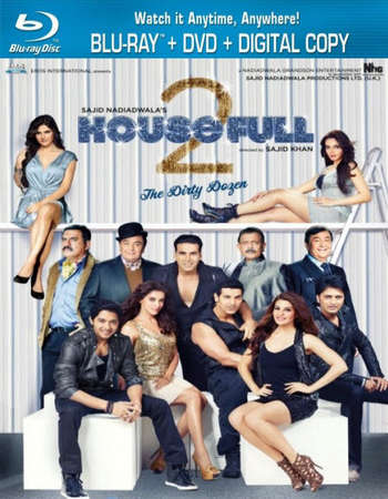 Poster Of Housefull 2 2012 Hindi 450MB BRRip 480p Free Download Watch Online