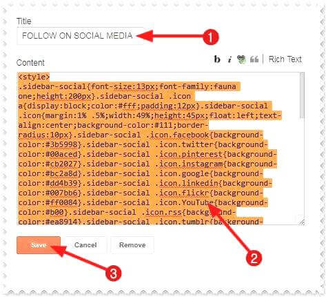 blog me social follow gadget lagakar design full kaise banaye, responsive social follow widget