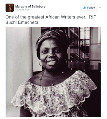 Nigerian author Buchi Emecheta dies at the age of 70