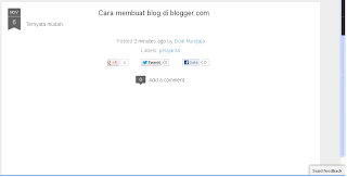 Akun Blogger step 10