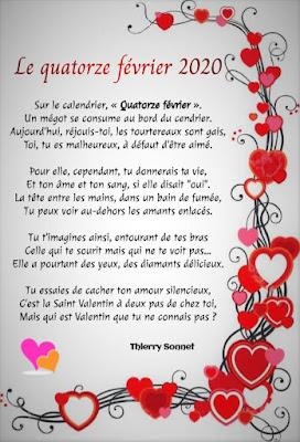 Beau poème court sur la St-Valentin