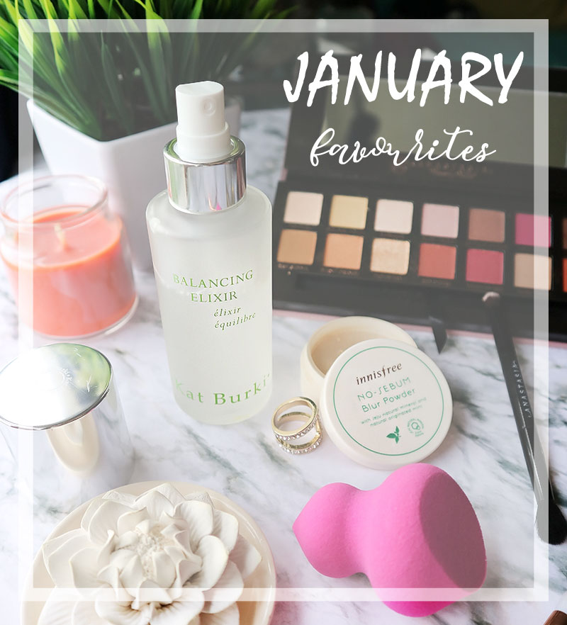 January Favourites 2017 ABH  Real Techniques Sculpting Sponge Kat Burki Innis Free