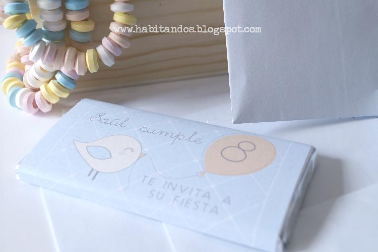 Invitaciones handmade personalizadas para fiestas de cumpleaños by Habitan2 /Chocolatinas personalizadas para invitación de cumpleaños