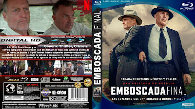 CARATULA - EMBOSCADA FINAL - The Highwaymen - 2019 BLU RAY