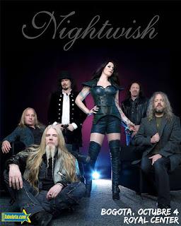 Concierto de NIGHTWISH en Bogotá 2018