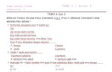 Contoh Soal Bahasa Indonesia Kelas 4 SD MI TEMA 6 Sub 3 Semester 1