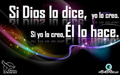 Si Dios lo dice, pues yo lo creo