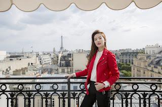 天梭表形象大使劉亦菲亮相法國巴黎 瀟灑點燃環法魅力之旅