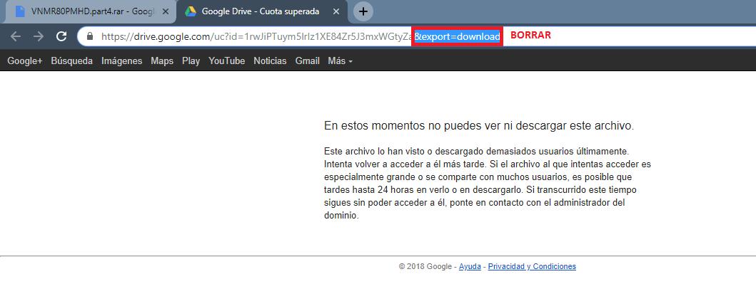 """Elimina el """"&export=download"""", del link a bajar."""