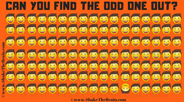 In this Odd One Out Picture Puzzle, your task is to spot the Odd Emoji Out