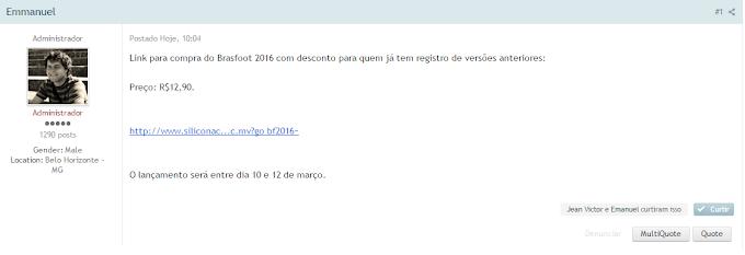 Registro - Brasfoot 2016