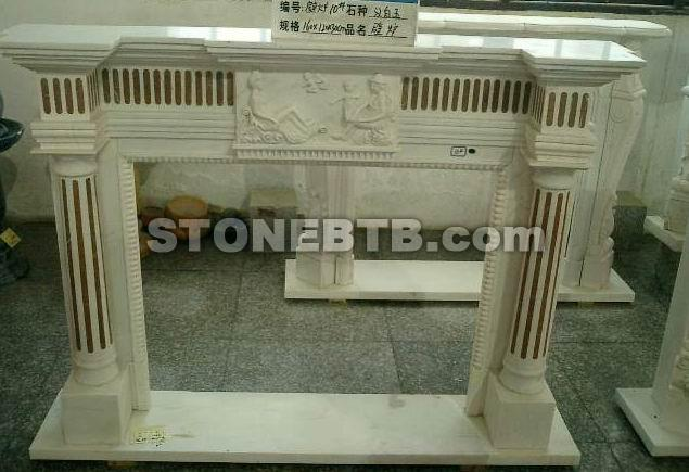 Art Sculpture : Marble Fireplace Mantels Installation ...