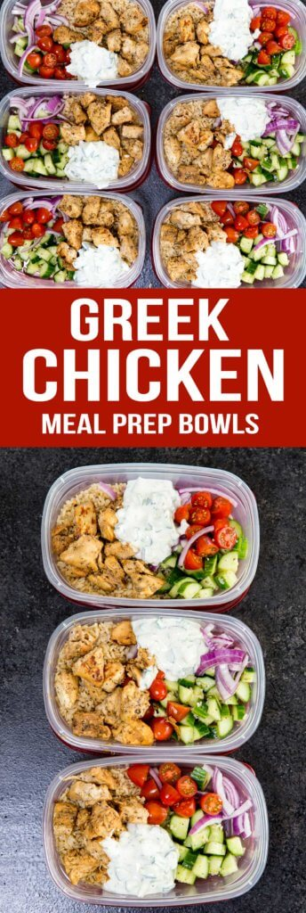 GREEK CHICKEN BOWLS