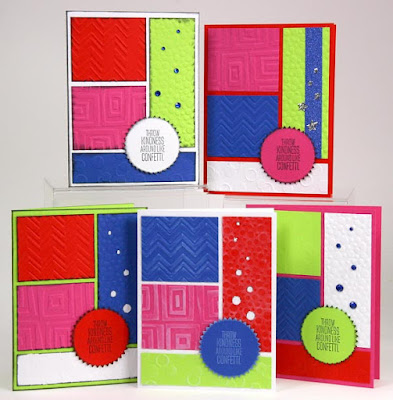 Color Blocking Card Formula with the Surprise Collection from Club Scrap #clubscrap #cardmaking #colorblocking