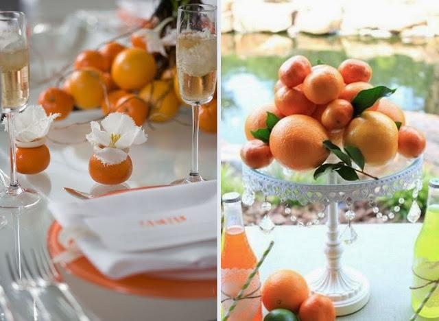цитрусовая свадьба фото