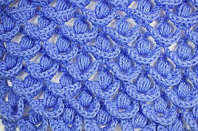 1 - Crochet IMAGEN Punto a relieve combinado con punto puff. MAJOVEL CROCHET