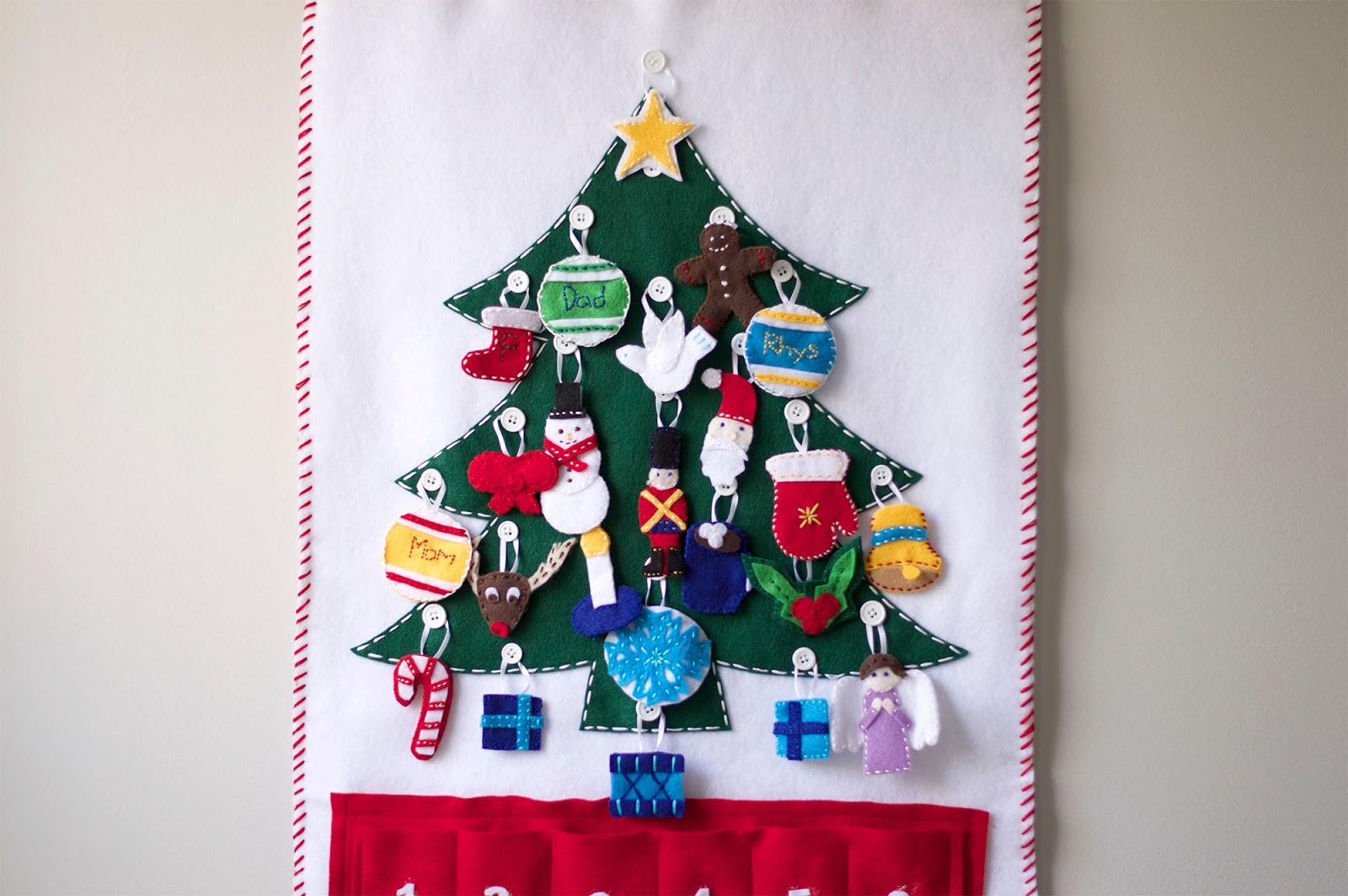 felt christmas advent calendar. Black Bedroom Furniture Sets. Home Design Ideas