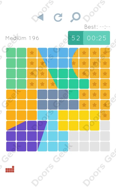 Cheats, Walkthrough for Blocks and Shapes Medium Level 196