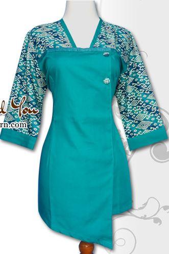 25 Contoh Model Baju Batik Kombinasi 2 Motif 2017