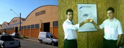 Inauguração Blue Solutions na Incubadora de Empresas de Araras - Os fundadores Edgar Teixeira Monteiro e Fernando Ulisses dos Santos