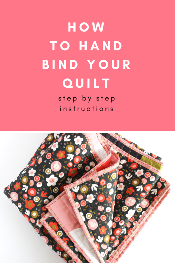 How to hand bind your quilt - step by step instructions | Shannon Fraser Designs