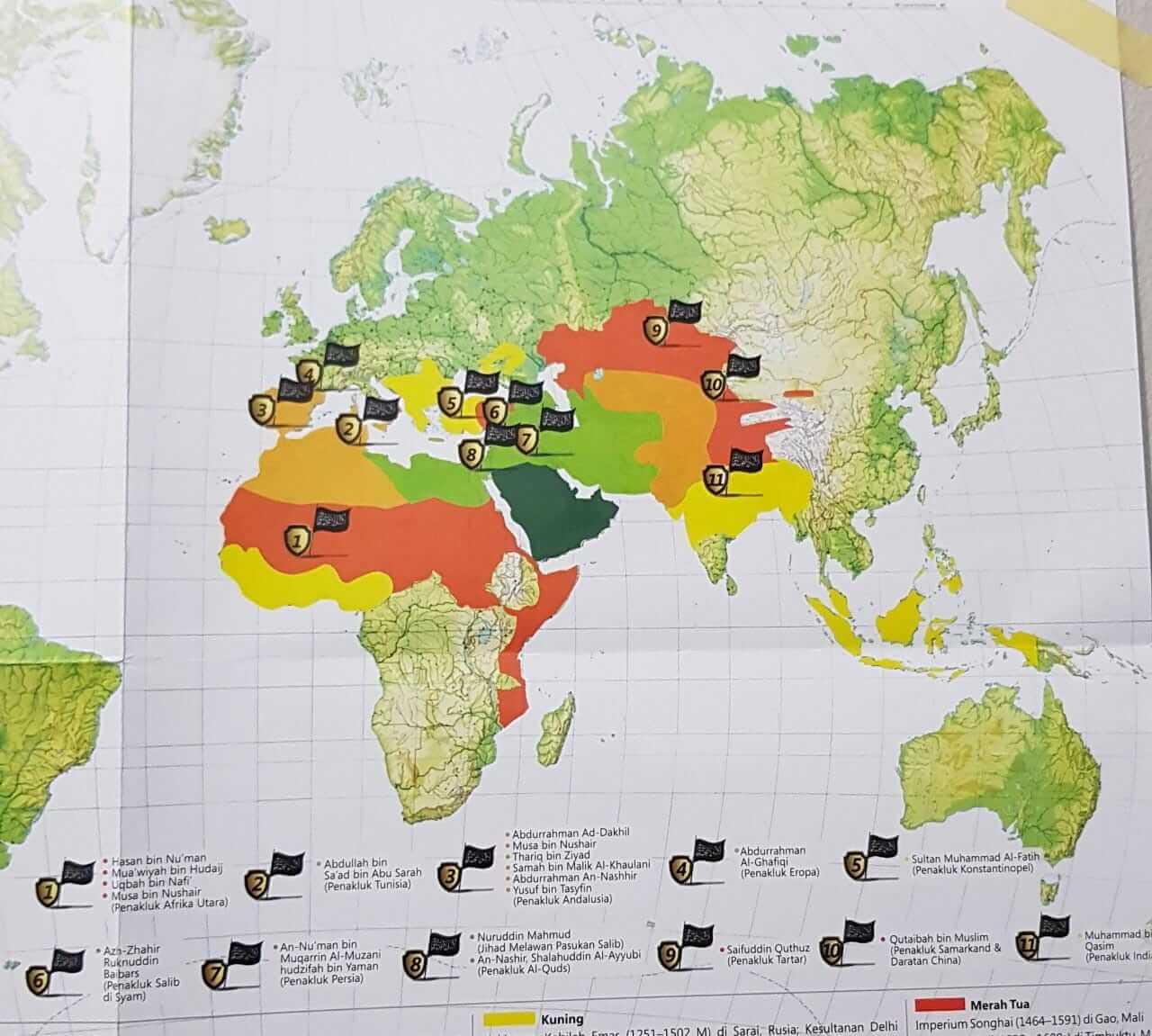 peta penaklukan negara Islam