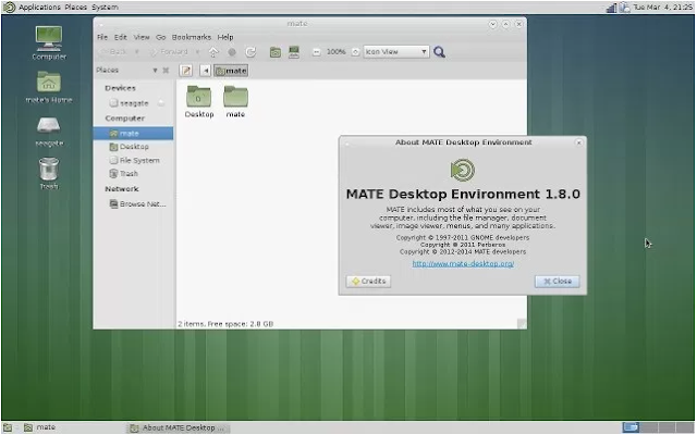 Tampilan Desktop Environment Linux Terbaik Mate