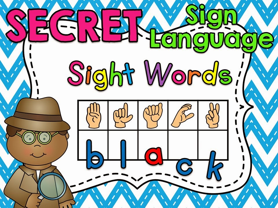 Secret Sign Language Sight Words - click to see them in action!