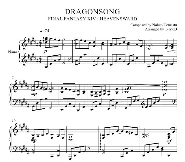 Final Fantasy XIV : DRAGONSONG (드래곤송) piano cover by Terry:D