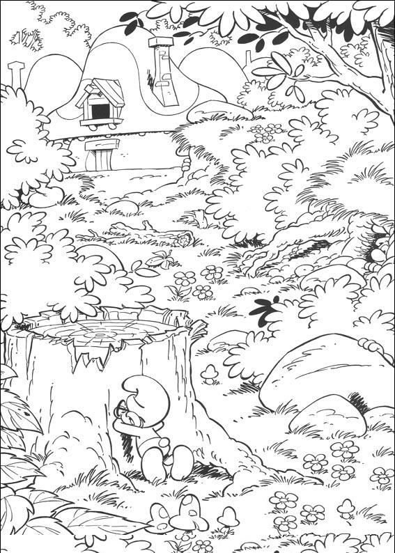 the smurfs coloring pages free printable coloring pages