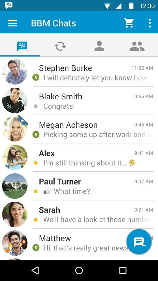 BBM For Andriod Updated With Material Design