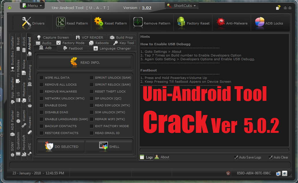 Uni-Android Tool Crack Ver 5 0 2 100% Tested By  Mobile Doctor BD