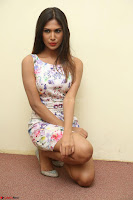 Nishi Ganda stunning cute in Flower Print short dress at Tick Tack Movie Press Meet March 2017 095.JPG