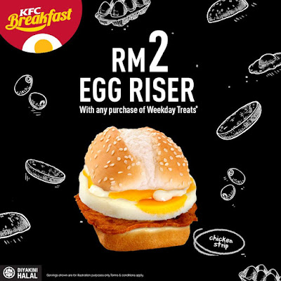 KFC Breakfast Weekday Treats RM2 Egg Riser