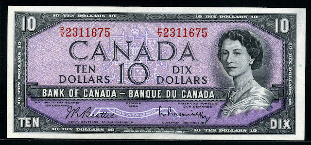 Canadian banknotes dollars Paper Money, Queen Elizabeth